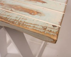 hire vintage baby blue table