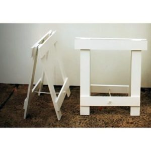 White painted trestle legs