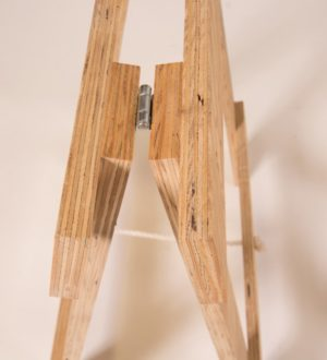 Plywood timber trestle legs joint