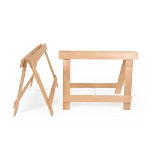 Extra Wide solid pine timber trestle legs