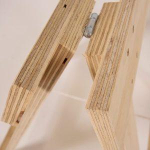 trestle timber legs join