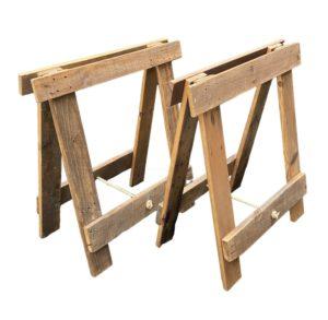 Reclaimed Hardwood timber trestle legs