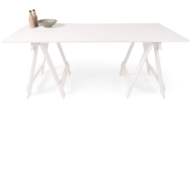 Painted White Trestle Table
