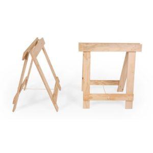 trestle timber legs