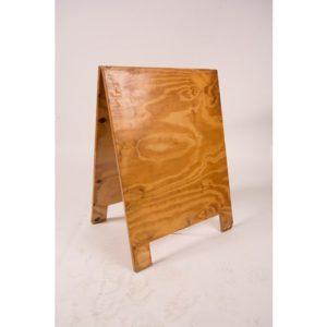 Varnished plywood sandwich board