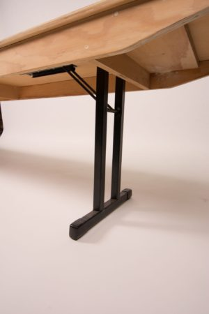 Wooden folding bench leg