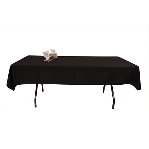 Black dining table cloth