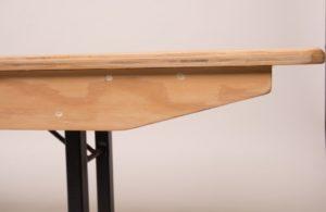Wooden folding bench edge