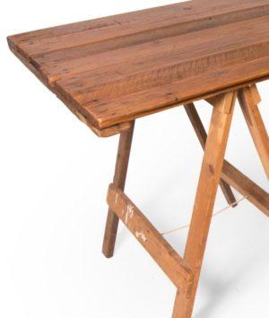 Vintage trestle table end