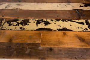 Kauri pine reclaimed trestle table top texture