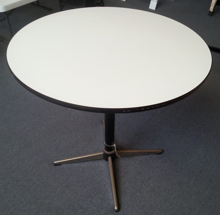 White Round Pedestal Table Folding Tables Direct