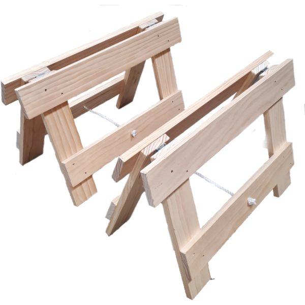 Soldi pine boho timber trestle legs