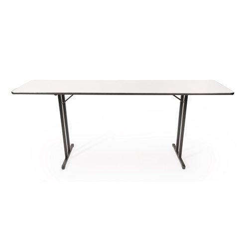 White melamine narrow folding table