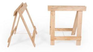 Plywood timber trestle legs