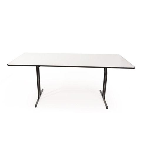 White melamine folding meeting or office table