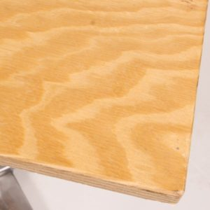 Plywood cafe table top corner