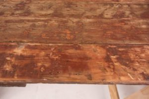 Brown trestle table texture