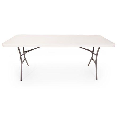 Lightweight plastic folding table