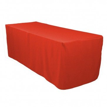 Red Fitted Tablecloth