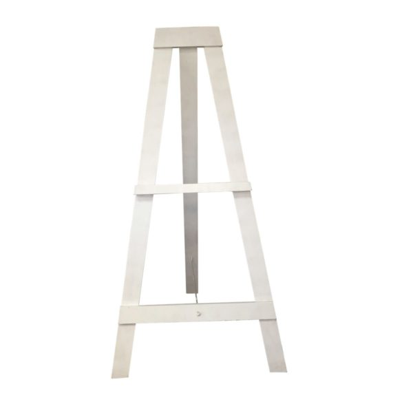 White painted timber easel