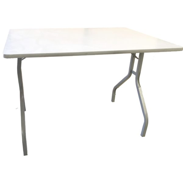 Small grey melamine folding table