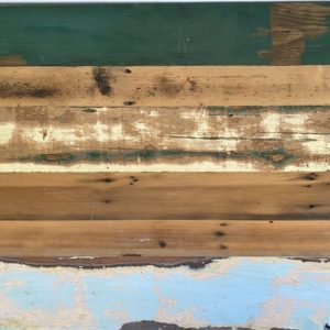 Reclaimed painted trestle table texture