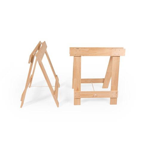 Solid pine timber trestle legs