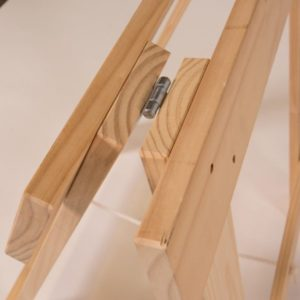 Solid pine timber trestle legs hinge joint