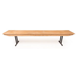 Folding wooden benches