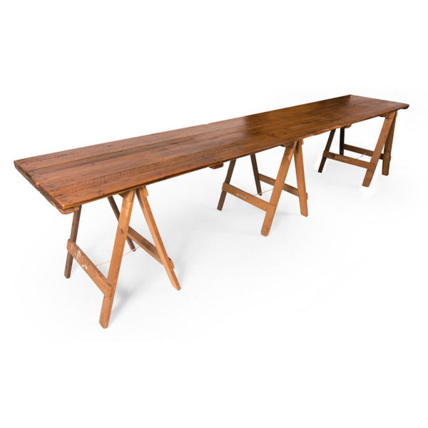 hire vintage long trestle tables