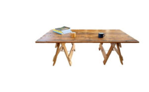 reclaimed timber coffee table with folding wooden legs