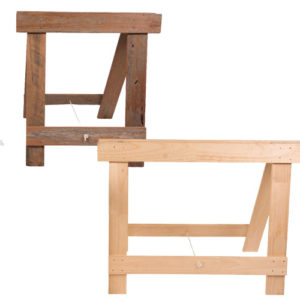 Folding timber trestle table legs